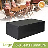 king do way Furniture Cover Large Waterproof Patio Cover for Chair and Table