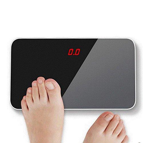 Jthkx mini perdita di peso rotondo vetro bilancia elettronica portatile ultra-sottile piccolo bilancia adulto famiglia pesatura, gatto tintinnante blu