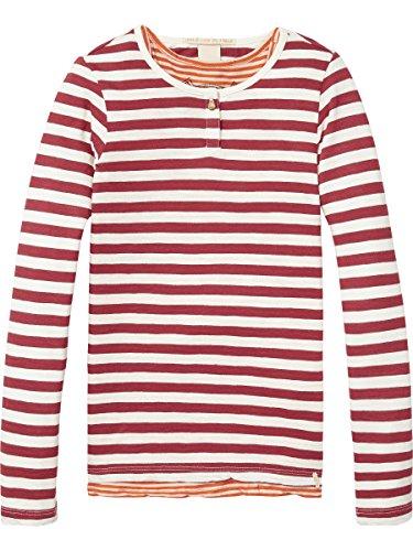 Scotch & Soda R'Belle Mädchen Two-in-One Gestreift T-Shirt, Mehrfarbig (Combo C 219), 152 (Herstellergröße: 12) (Explorer L/s Shirt)