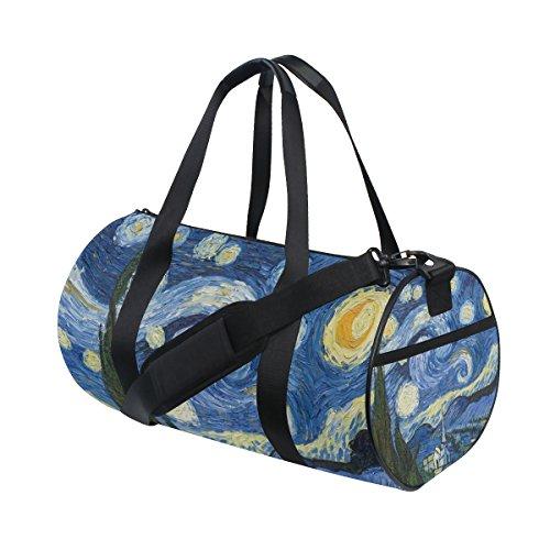 ALAZA Gimnasio de deportes bolsa Noche estrellada de Van Gogh Pintura al  óleo de viaje Mochila 7fd76fa3d6e