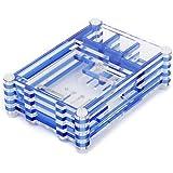 Clara Cáscara Caja Azul Cuadra de Acrílico para Raspberry Pi B y Raspberry Pi 2