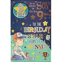 Son 9th Birthday Card -