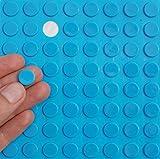 Blau 3M Gummifüße, ~ 12mm Dia X 2mm Höhe ~ selbstklebend anti-slam Möbel Einheit Tür Bildschirmschutzfolien, farblos