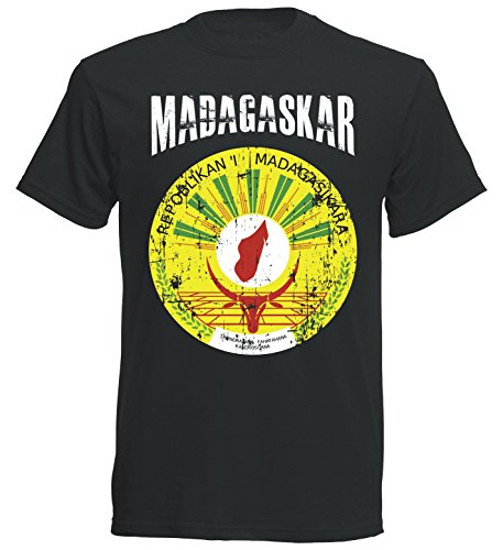 T-Shirt Madagaskar WM 2018 TS SC Vintage Destroy Wappen D01 (L) (Vintage Fußball Trikot)