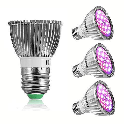 GreenSun LED Lighting 7W Pflanzenlampe E27 Pflanzenleuchte Vollspektrum Tageslichtlampe Pflanzen Wachstumslampe Tageslicht für Garten Gewächshaus Zimmerpflanzen, Blüte, Blumen, Gemüse [4 Pack]