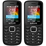 G'Five U220+ Combo Of Two Basic Feature Mobile Phone (Blue,Red) With 1 Year Manufacturer Warranty