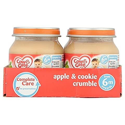 Cow and Gate Stage 1 Baby Balanced Crumble Apple and Cookie 125 g (Pack of 6)