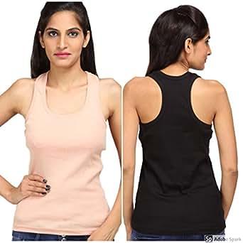 17df073403 ... ALBATROZ Cotton T Back Ladies Plain Spaghetti Tank Top Vest Camisole  Sando for Women