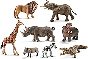 schleich tiere afrikas figuren set zebra nashorn elefant. Black Bedroom Furniture Sets. Home Design Ideas