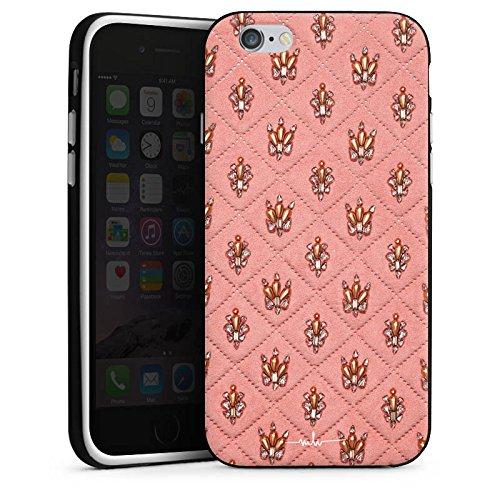 Apple iPhone X Silikon Hülle Case Schutzhülle Design Fashion Kronen Silikon Case schwarz / weiß
