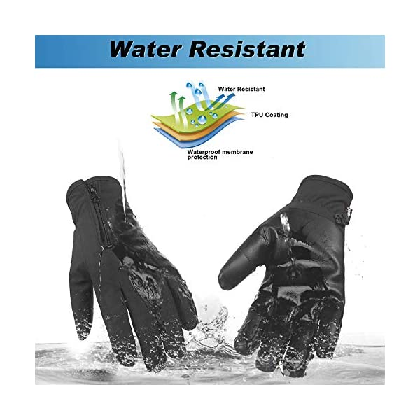 Unigear Winter Warm Gloves Double Waterproof Windproof with Touchscreen Function Cycling Gloves for Daily Use,Gardening, Builders, Mechanic 3