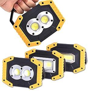 30W COB recargable LED de trabajo Luz de inundación impermeable portátil con puerto USB para cargar dispositivos móviles para acampar al aire libre Reparación de emergencia (Size : 1)