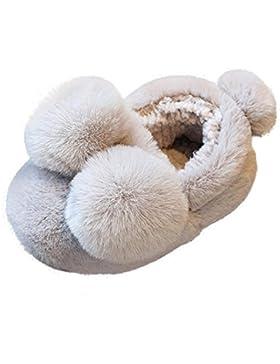 Enfant mignon Arc Petites filles Semelle douce en peluche Antidérapant chaud Velours Chaussures de neige Kobay