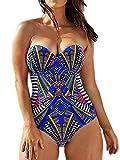 Spring fever Women's Sexy One Piece Padding Beachwear Bikini Monokini Swimsuit