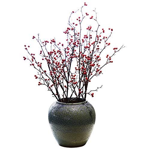 Künstliche Blumen handgefertigte Steingut-Tisch-Vase Blase Blase Blase dekorative Blume Neue Chinesische Blumeneinlage künstliche Blumendekoration Tabletop Blume Blume Blume Blume Blume Tischfußblume