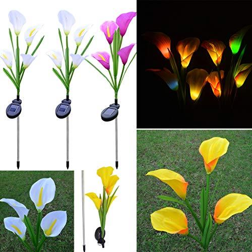 TianranRT❄ Solar Gartenleuchte,Led Solar Laterne Mit Externer Solar Laterne Mit 4 Solar Led Laternen (Multicolor) - Ohne Boden Wein-flaschen