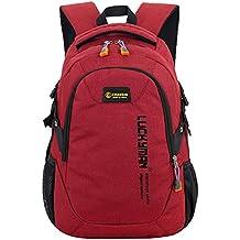 Super moderno unisex nailon escuela mochila para portátil bolsa para adolescente niñas y niños Cool deportes