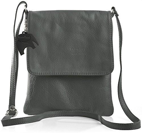 Big Handbag Shop - Borsa a tracolla donna Grigio (Grigio scuro)