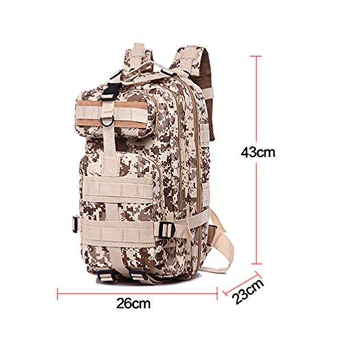 Wanyang Outdoor Sport Camouflage Zaino Militare Fan Alpinismo Escursionismo Pacchetto Tattico Borsa Mimetica F
