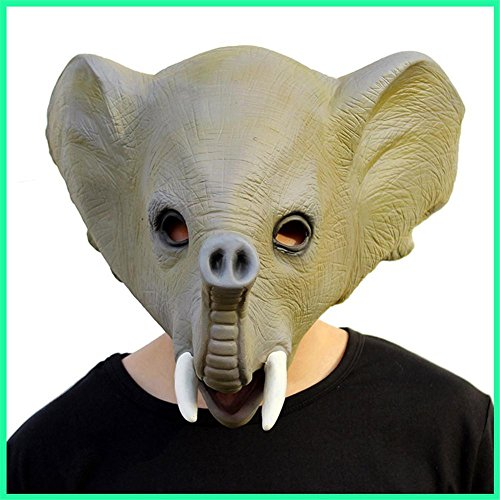 SQCOOL Halloween Elefanten Maske Masquerade Ball Performance Film Requisiten Latex Party