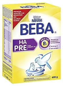 Nestlé Beba HA Start Pre Hypoallergene Anfangsnahrung von Geburt an, 6er Pack (6 x 600 g)