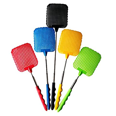 Gaddrt Fly Swatter Prevent Pest Mosquito Tool Retractable Handle Pest Mosquito Tool