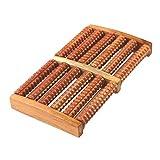 Fußmassageroller aus Holz.Reflexzonen-Fussmassagegerät.Zweifuß Holz Massage-Roller.Holzwalzen.Fußreflexzonenmassage Massage