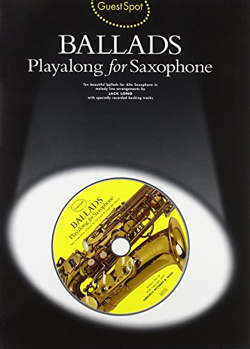 Guest Spot: Ballads Playalong for Saxophone +CD