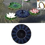 Gaeruite Solar Brunnen Solarpumpe garten mit 1.4W Monokristalline Panel Springbrunnen Garten Brunnen und Pumpe