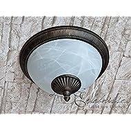 Élégant lampe de basse consommation extérieur en or vieilli 11W Plafonnier Plafonnier