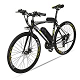 Extrbici Vélo de Ville électrique RS600 700C 240W 36V 15A Bicyclette Homme en Alliage d'Aluminium Shimano TZ-21 Vitesses avec Suspension de la Fourchette, Couleur Gris Cyrusher (Gris)
