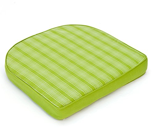 VTB Hambiente Stuhlkissen für Geflechtsessel Hülle mit Reißverschluss abziehbar waschbar Farbe frühlingsgrün
