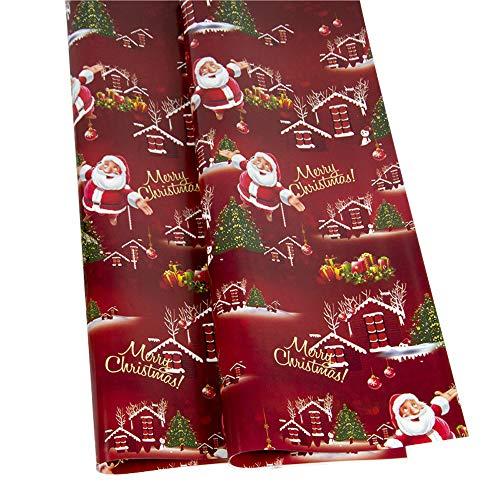 Mitlfuny Weihnachten Home TüR Dekoration 2019,Weihnachtspapier Geschenkpapier Baum Santa Wrap Dekorative Weihnachtsparty-Rolle