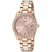Fossil Women's Quartz Watch, Analog Display and Stainless Steel Strap ES4318
