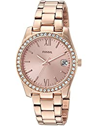 Fossil Analog Rose Gold Dial Women's Watch-ES4318