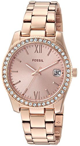 Fossil Analog Rose Gold Dial Women's Watch-ES4318 image