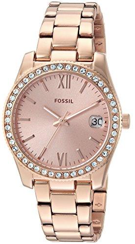 Fossil Damen Analog Quarz Smart Watch Armbanduhr mit Edelstahl Armband ES4318