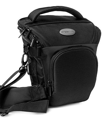 Baxxtar Pro Novo - Funda para cámara SLR, con correa de hombro, correa de cintura adicional y trabilla para el cinturón, color negro