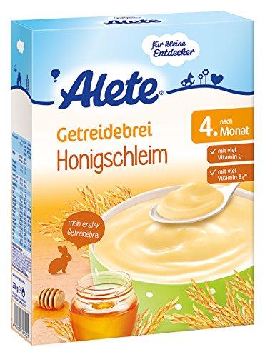 Alete Getreidebrei  Honigschleim, 9er Pack (9 x 250 g)
