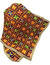 Beautiful Phulkari Dupatta IN Maroon Base