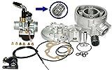 Unbranded 90 Tuning Zylinder KIT VERGASER CHOKEHEBEL S6 für Honda HM MINARELLI AM6 50 SIL Zylinderkit