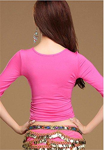 ventre confortable veste de formation en danse / manteau yoga / pratique de la danse Rose