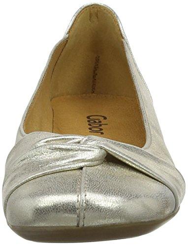 Gabor  Frost, Damen Ballerinas Beige (Beige Shimmer/Metallic Leather)