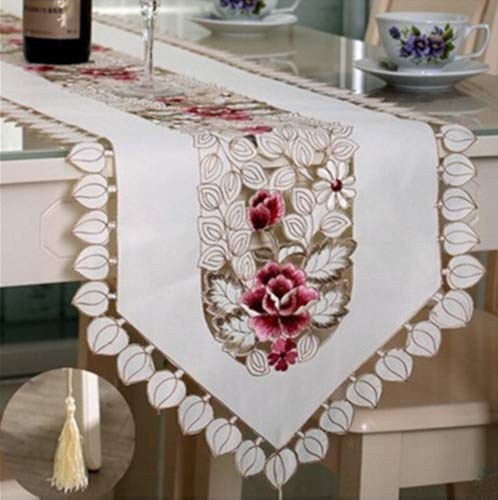 Ustide - Tapete de mesa bordado en flores