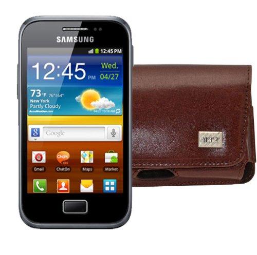 MTT Original Quer-Tasche mit Gürtelclip und Sicherheitschlaufe für Samsung Galaxy Ace Plus S7500...
