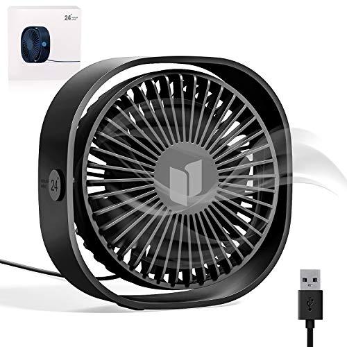 RATEL Ventilador de Mesa USB, Ventilador de Escritorio 4.84 In Use con...