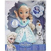Disney Frozen -  Muñeca Elsa, brillo de nieve [canta en inglés]