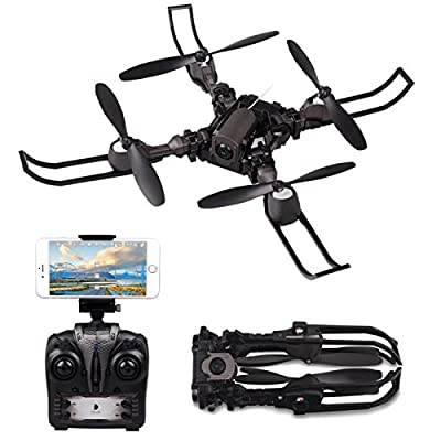 Rolytoy RC Quadcopter Drone, Remote Control Drone with HD Wifi Camera 2.4GHz 4CH 6-Axis Gyro Airplane Altitude Hold Headless Mode Helicopter from Rolytoy