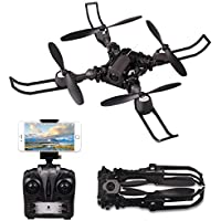 Quadrocopter Ferngesteuert Spielzeuge, WIFI FPV RC Drohne mit HD-Kamera APP Steuern RC Quadrocopter Kopflosmodus Drone Toy für Anfänger