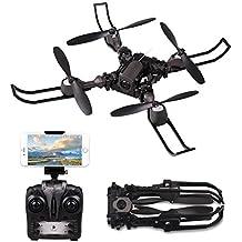 Drone RC Droni Quadrocopter 2.4GHZ 6-Assi Giro Giroscopio RC Drone Pieghevole Quadrocopter Drone con Camera 720P FPV Headless Mode Toys APP Controlla Video in Diretta Buono per principianti Regalo per Compleanno e Festa